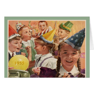 Retro 60th Birthday Party 1955 Childhood Memories Greeting Card