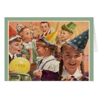 Retro 65th Birthday 1950 Childhood Memories Greeting Card