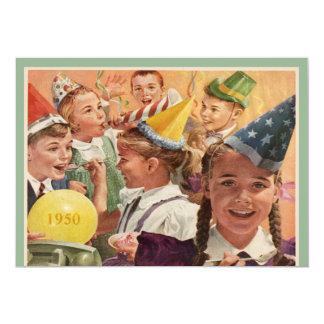 Retro 65th Birthday Party 1950 Childhood Memories 13 Cm X 18 Cm Invitation Card