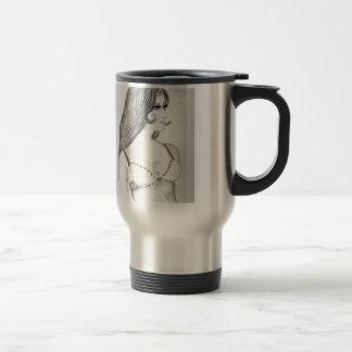 Retro 70s Bikini Girl Stainless Steel Travel Mug