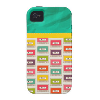 Retro 70s Cassette Tape Pattern Vibe iPhone 4 Case