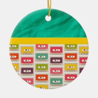 Retro 70s Cassette Tape Pattern Ornament