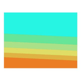 Retro 70's Color Block Gradient Postcard
