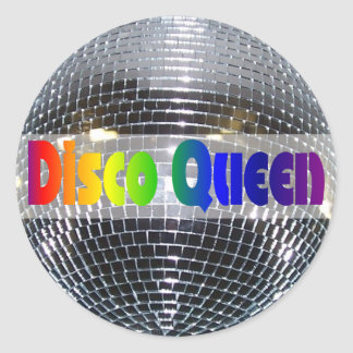 Retro 70s Disco Ball | Dancing Disco Queen Classic Round Sticker