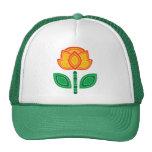Retro 70s Flower Caps Cap