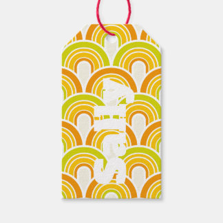 Retro 70s Funky Personnalised Gift Tags