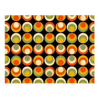 Retro 70s Pattern Postcard