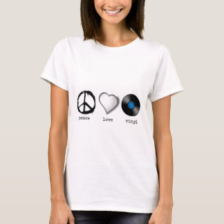 Retro 70s Peace Love Vinyl T-Shirt