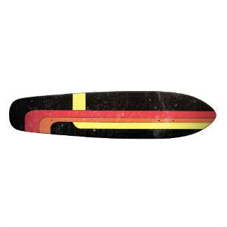 Retro 70's style skateboard design