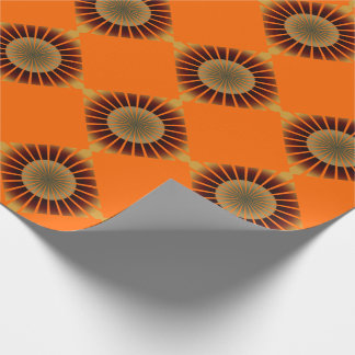 Retro 70's style wrapping paper