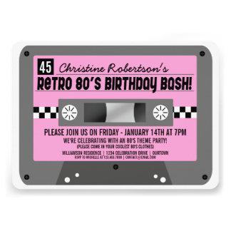 Retro 80 s Cassette Tape Party Invitations