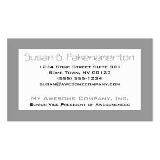 Retro 80 s Mixtape - Black and Grey Business Card