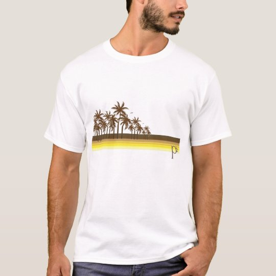 Retro 80s Brown/Gold Palms T-Shirt