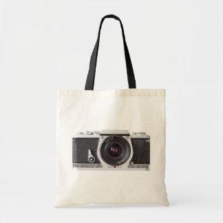 Retro 80s Camera Canvas Grocery Bag