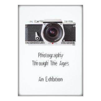 Retro 80s Camera Themed Event Invitation Card Announcement