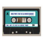 Retro 80s Cassette Mixtape Personalised Postcard