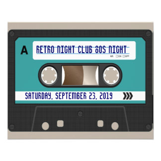 Retro 80s Cassette Mixtape Personalized 11.5 Cm X 14 Cm Flyer