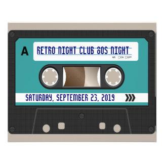 Retro 80s Cassette Mixtape Personalized 11.5 Cm X 14 Cm Flyer