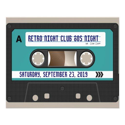 Retro 80s Cassette Mixtape Personalized Flyer Design