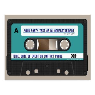Retro 80s Cassette Mixtape Personalized Postcard