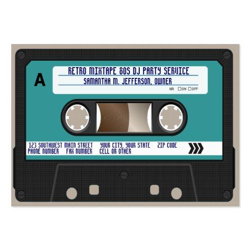 Retro 80s Cassette Tape Business Cards
