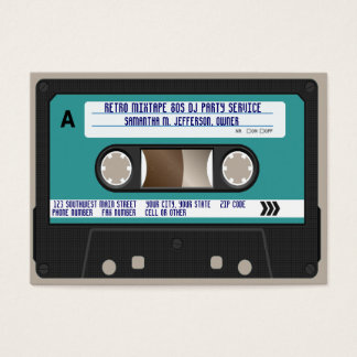 Retro 80s Cassette Tape Business Card