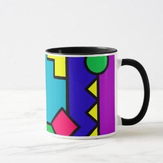 Retro 80s Color Block Mug