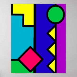 Retro 80s Color Block Poster