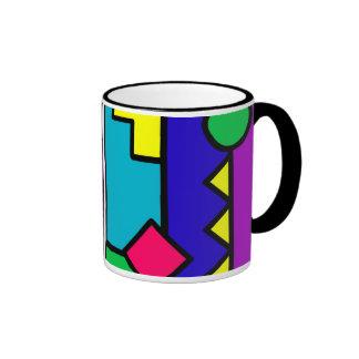 Retro 80s Color Block Ringer Mug