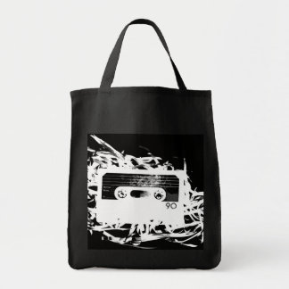 Retro 80's Design - Audio Cassette Tape Tote Bag