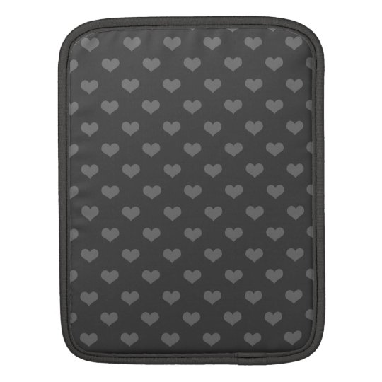 Retro 80s flannel grey bubble hearts emo pattern iPad sleeve