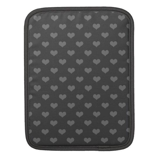 Retro 80s flannel grey bubble hearts emo pattern iPad sleeves