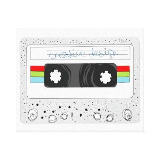 Retro 80s funky cassette tape canvas print
