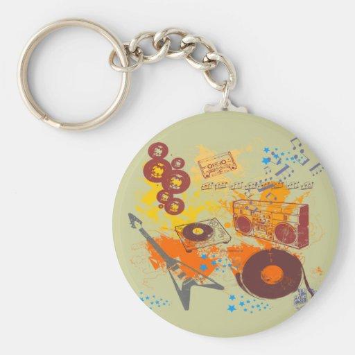 Retro 80's Music Keychain