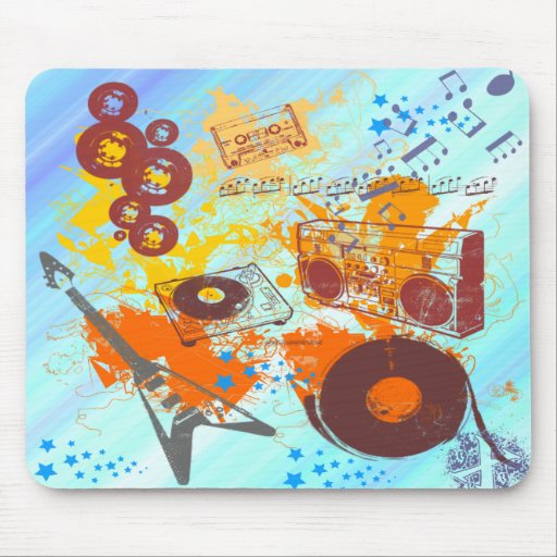 Retro 80's Music Mouse Pad