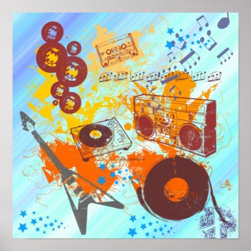 Retro 80's Music Poster