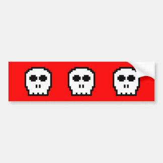 Retro 8-bit Skull Bumper Stickers