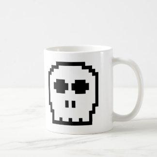 Retro 8-bit Skull Mug