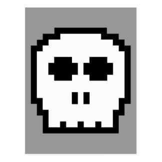 Retro 8-bit Skull Postcard