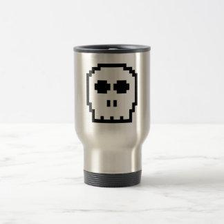 Retro 8-bit Skull Stainless Steel Travel Mug