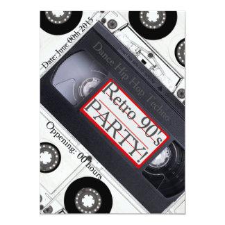 Retro 90's tech cover invitation