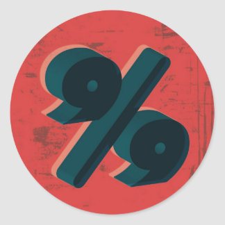 Retro 99 Percent Round Sticker