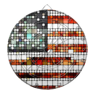 Retro Abstract American Flag Dart Board