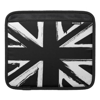 Retro abstract black union jack design iPad sleeve