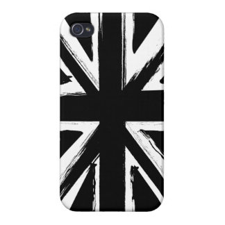 Retro abstract black union jack design iPhone 4 cover