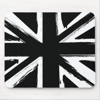 Retro abstract black union jack design mouse mat