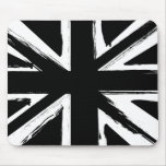 Retro abstract black union jack design mouse pad
