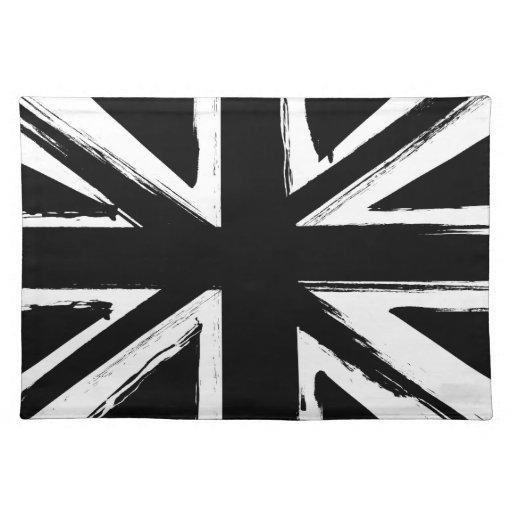 Retro abstract black union jack design placemats zazzle