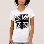 Retro abstract black union jack design shirts