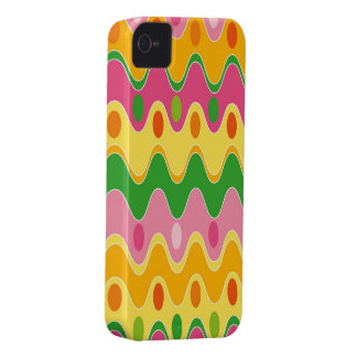 Retro Abstract Colorful Zig Zag iPhone 4 CaseMate iPhone 4 Case-Mate Cases